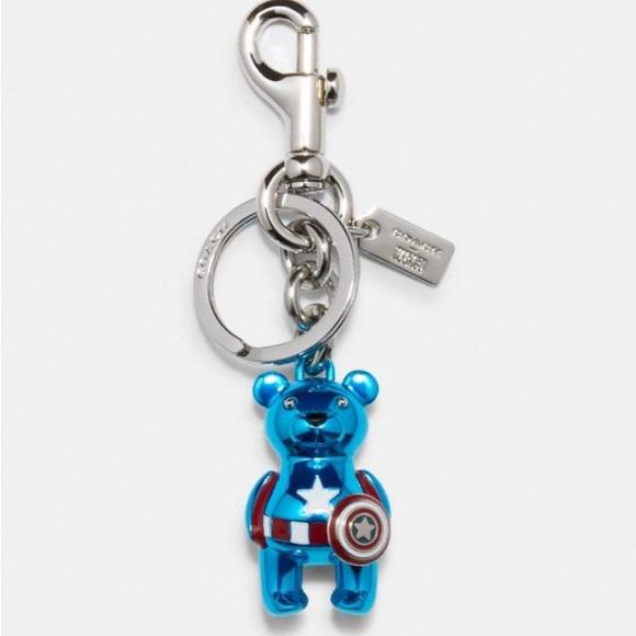 Coach Marvel Captain America Bear Bag Charm - NWT